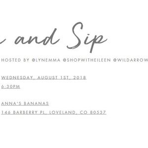 PoshNSip Other - August 1 RSVP INFO POSTED